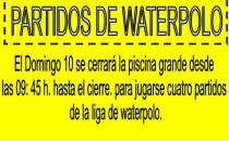 DOMINGO 10 PARTIDOS WATERPOLO
